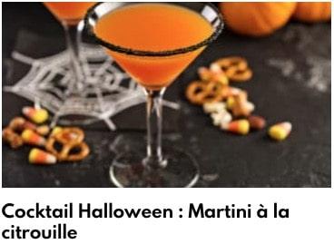 martini à la citrouille