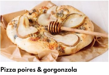 pizza poires gorgonzola