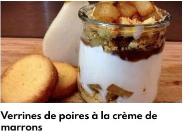 verrines poires marrons