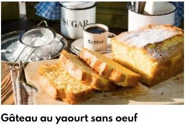 ghâteau au yaourt sans oeuf