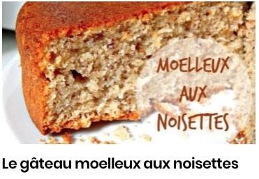 gâteau moelleux noisettes