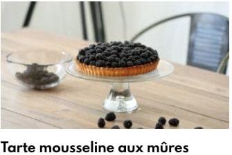tarte mousseline aux mûres