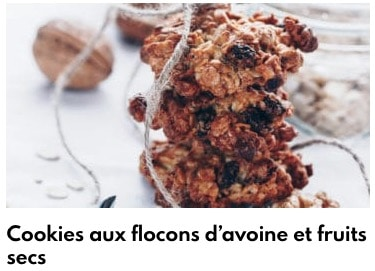 cookies flocons d'avoine et fruits secs