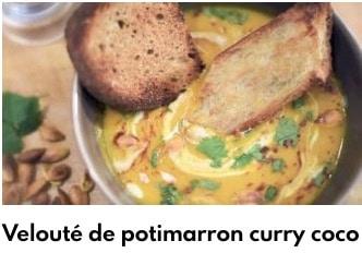 velouté de portimarron curry au lait de coco