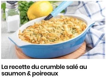 crumble saumon poireau