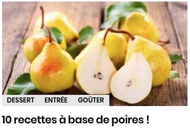 recettes à base de poires