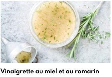 vinaigrette miel romarin