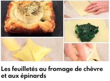 feuilletés au fromage et au épinard