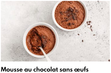mousse au chocolat sans oeufs