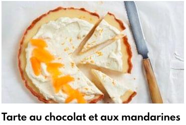 tarte au chocolat et aux mandarines