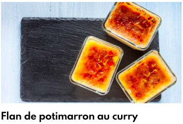 flan de potimarron au curry