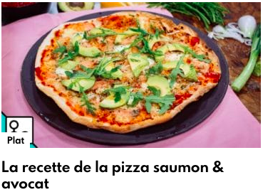 pizza saumon avocat