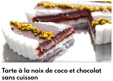 tarte noix de coco chocolat sans cuisson
