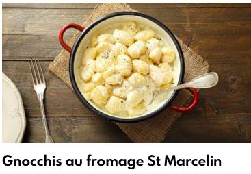gnocchis au saint marcelin