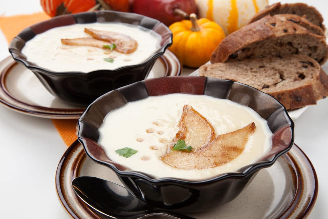 soupe de panais et poires
