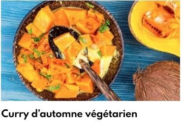 curry d'automne végétarien