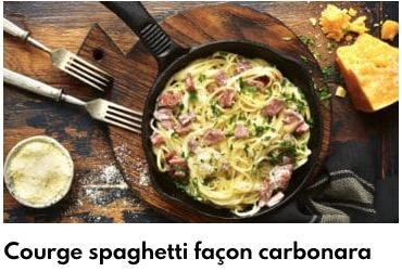 courge spaghettis facon carbonara