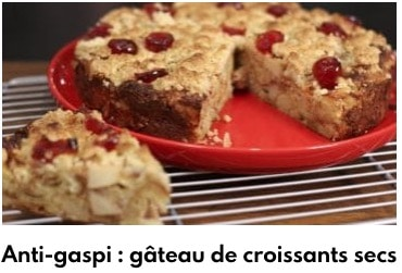 gâteau aux croissants secs