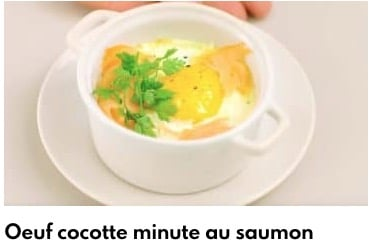 oeuf cocotte minute saumon
