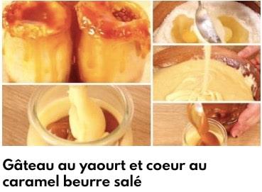 gâteau au yaourt sauce caramel