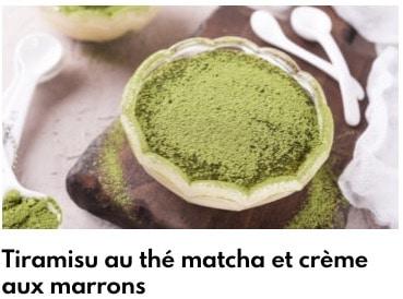 tiramisu thé matcha