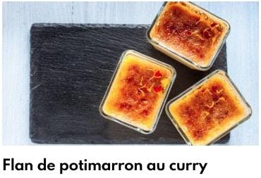 flan de potimarron au curry