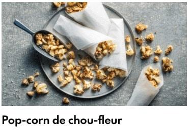pop corn de chou fleur