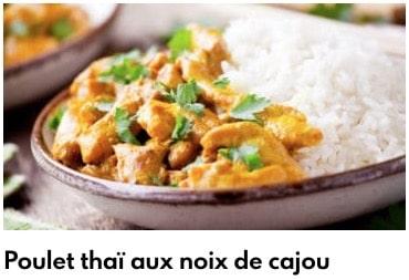 poulet thai aux noix de cajou