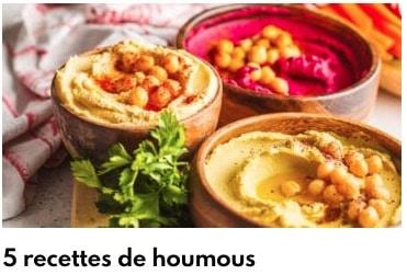 5 recettes de houmous