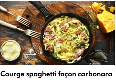 courge spaghetti facon carbonara