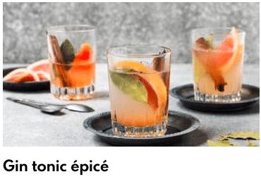 gin tonic épicé