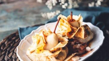 aumônières crêpes poires chocolat