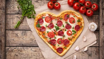pizza saint valentin