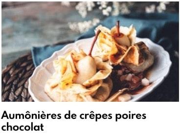 aumônières poire chocolat