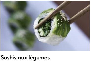 sushis légumes