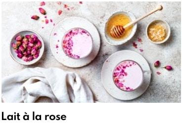 lait à la rose