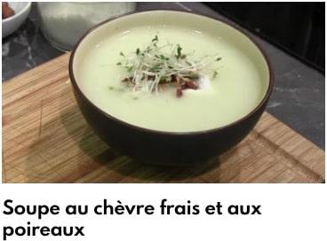 soupe chèvre frais poireau