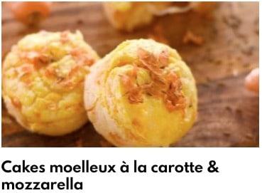 cake moelleux mozzarella carottes