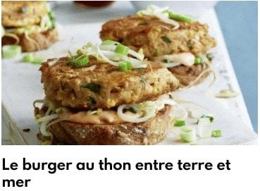 burger de thon
