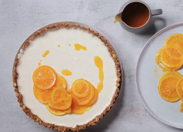 tarte à l'orange sanguine