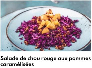 chou rouge salade