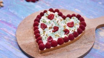 tarte saint-valentin