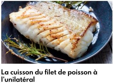 filet de poisson unilatéral