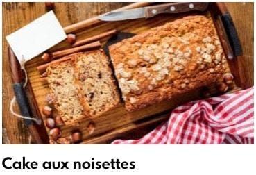 cake aux noisettes