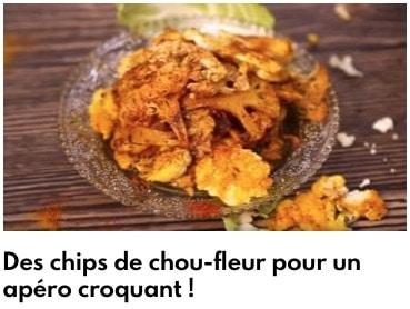 chips de chou fleur