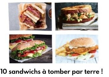 10 recettes de sandwichs