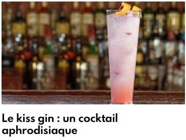 kiis gin cocktail aphrodisiaque