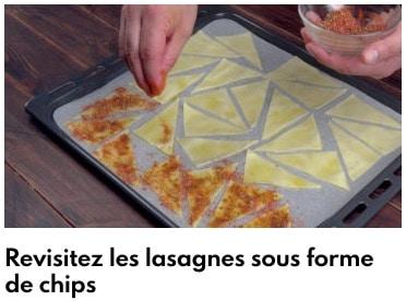 chips de lasagnes