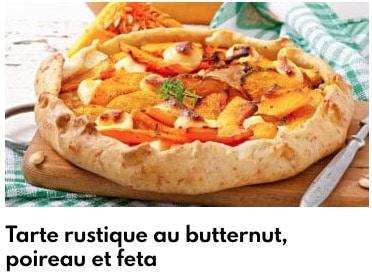 tarte rustique butternut