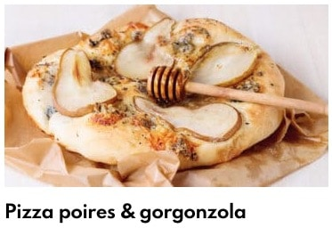 pizza poire gorgonzola